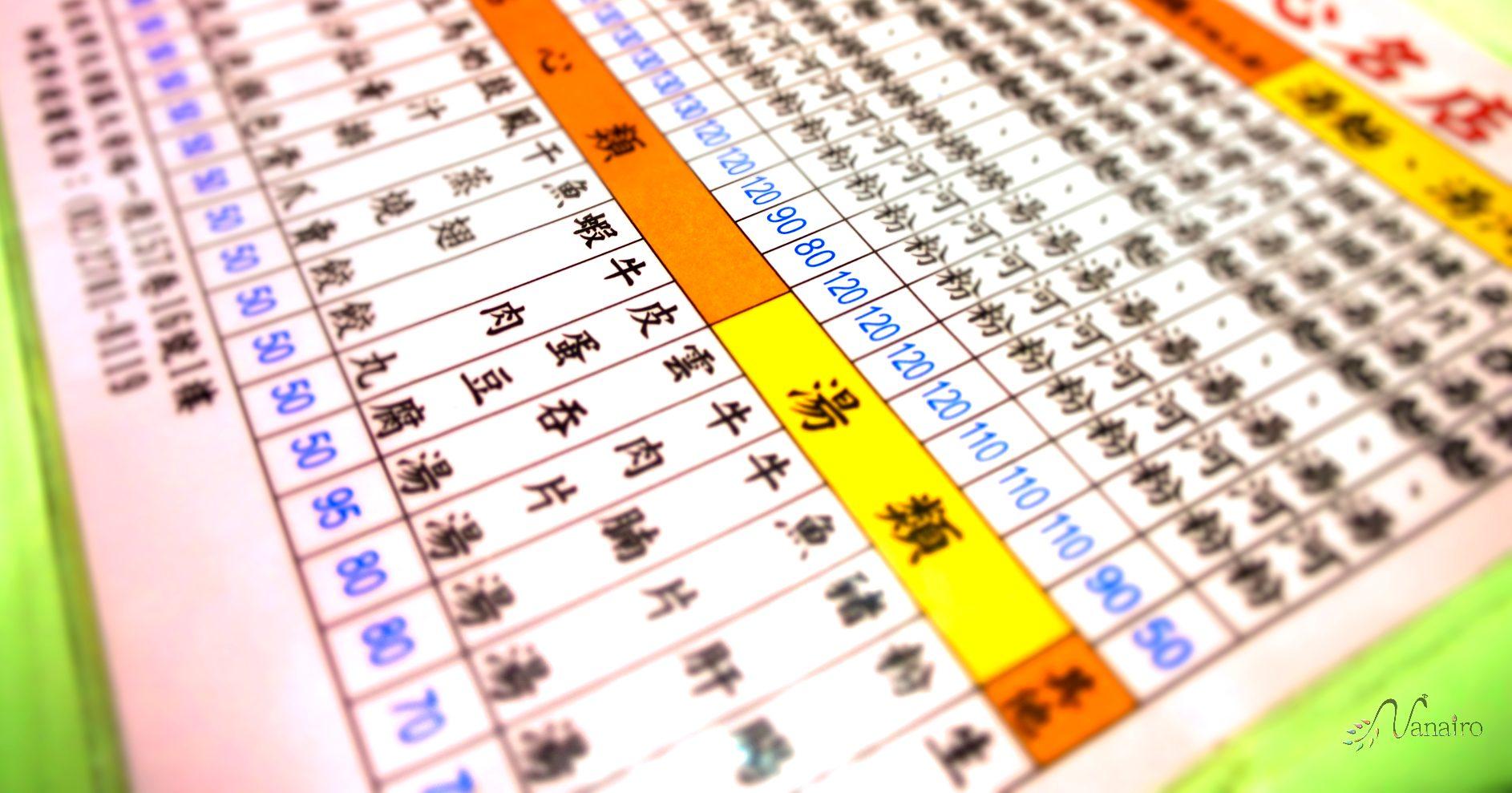 中華料理のメニューの読み方は?漢字で分かる料理の内容